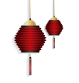 chinese lanterns decorations vector image vector image