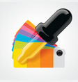 color picker icon vector image vector image