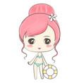 cute girl in bikini vector image vector image