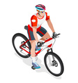 Cycling Mountain Bike 2016 Sports 3D Isometric Ill vector image vector image