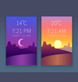 day night app morning and evening sky nature vector image