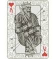 Dead King Playing Cart vector image vector image