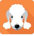 dog Bedlington Terrier icon flat design vector image vector image