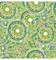 Ethnic seamless pattern with feathers and circles vector image vector image