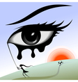 eye in the sky vector image vector image