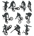 Flatland BMX silhouettes vector image vector image