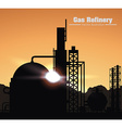gas refinery design vector image