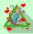 gay rainbow feather arrows and cupid bow vector image vector image