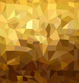 Gold pattern low poly 3d triangle geometry fancy vector image