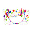 happy holiday banner vector image vector image