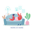 home office concept flat style design vector image