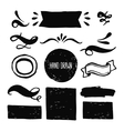 Ink design labels ribbons and decorative elements