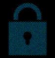 lock composition icon of halftone bubbles vector image