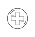 medical cross line icon concept medical cross vector image vector image