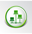Network - icon networking wired lan web vector image