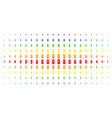 newborn spectral halftone pattern vector image vector image