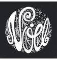 NoelChristmasFrench Handwriting fontChalkboard vector image