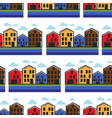 norway houses townhouse seamless pattern norwegian vector image vector image