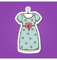 Pretty dress vector image vector image