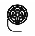 Reel with film icon simple style vector image vector image