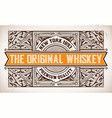 retro label with western style vector image vector image