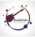 rock cafe logo vector image