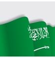 Saudi Arabian waving Flag vector image vector image