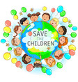 save the children vector image vector image