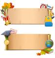 School Paper Scrolls vector image vector image