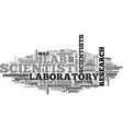 scientist word cloud concept vector image vector image