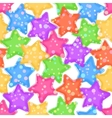 Seamless Pattern Colorful Stars vector image