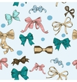 semless texture with vintage bows vector image vector image