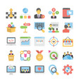 seo and digital marketing colored icons 6 vector image vector image