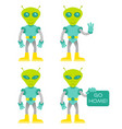 set alien vector image