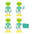 set alien vector image vector image