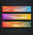 simple geometric banners 04 vector image