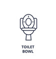toilet bowl line icon outline sign linear symbol vector image vector image