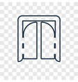 tomahawk concept linear icon isolated on vector image vector image