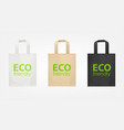 tote shopping eco bags vector image
