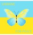 Ukraine for peace vector image