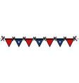 united states of asmerica garlands celebration vector image