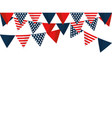 united states pennant design vector image