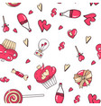 valentine s day pattern with heart background vector image vector image