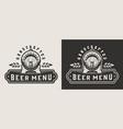 vintage monochrome brewing emblem vector image vector image