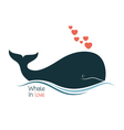 whale in love vector image vector image