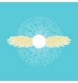 Winged sun symbol vector image