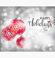 winter silver background vector image vector image