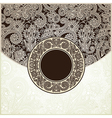 circle vintage template vector image