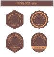 Vintage badge - label vector image