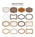 Wooden Vintage Labels Collection vector image